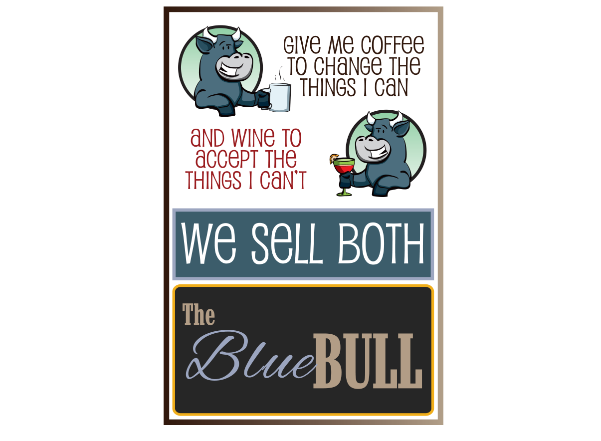 The Blue Bull Advertising poster