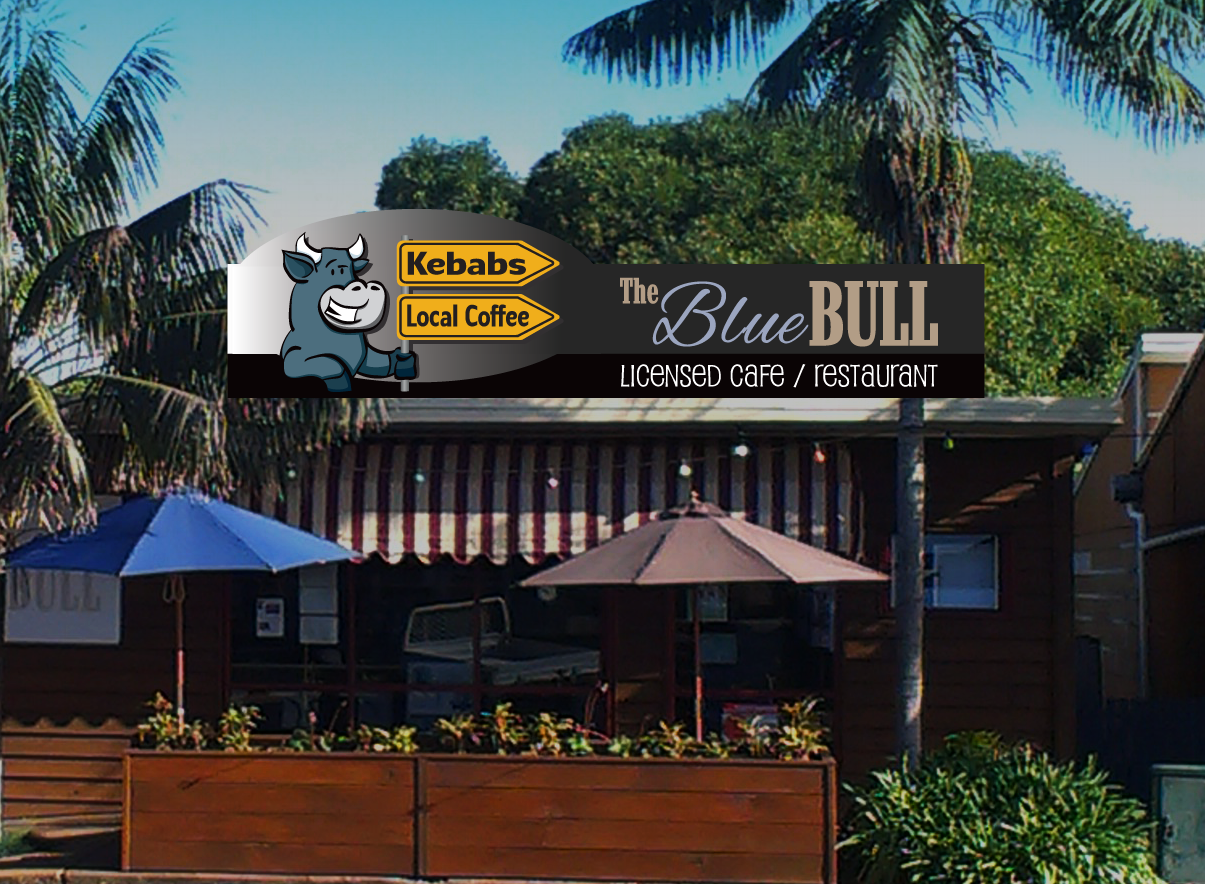 The Blue Bull Roof Sign