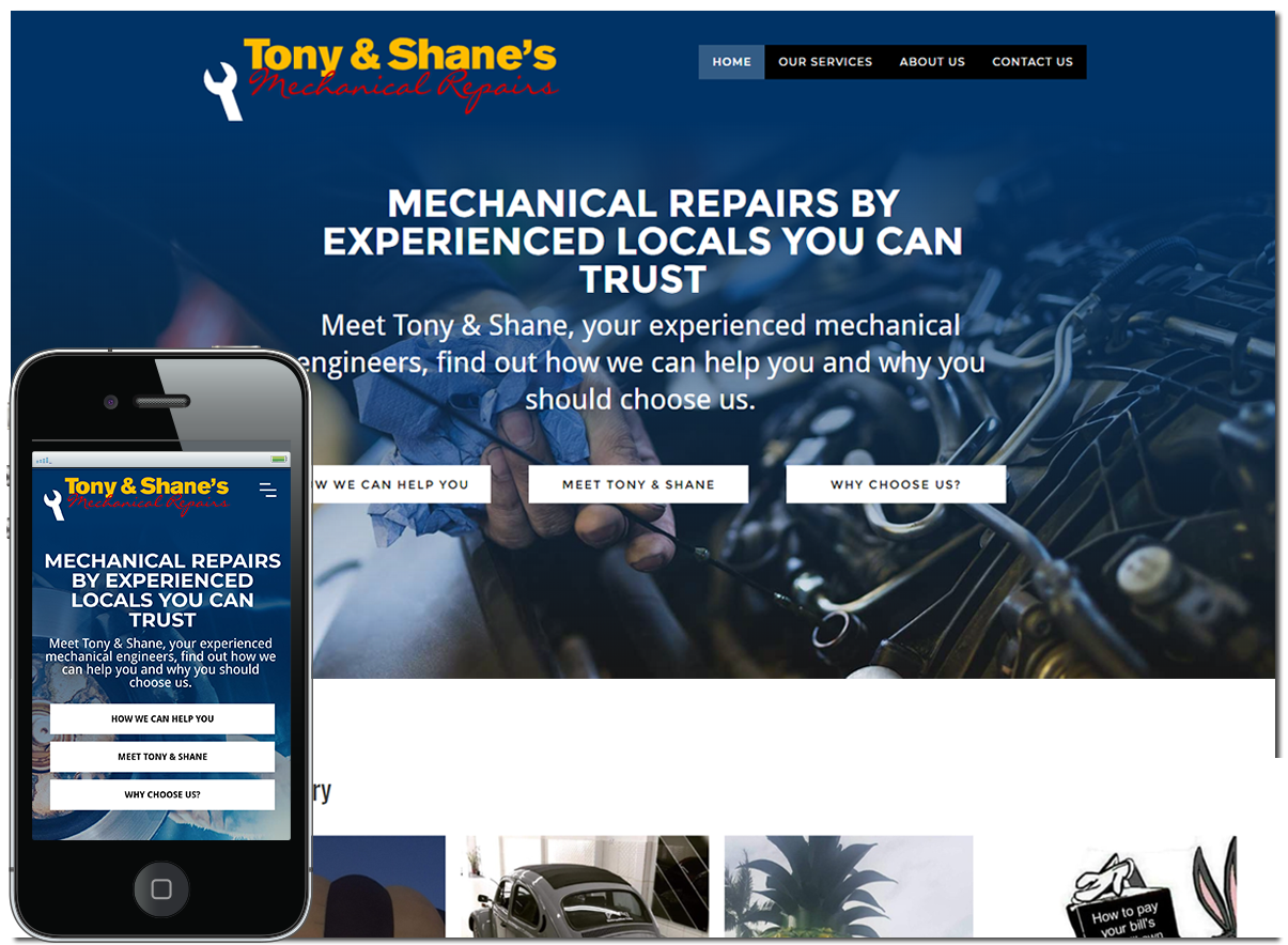 Website Design and Development for Tony & Shane's Mechanical Repairs